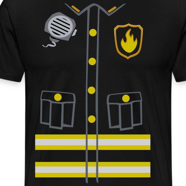 Kids Fireman Costume - Dark edition