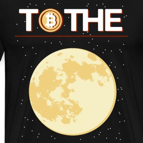 to the moon bitcoin krypto - Männer Premium T-Shirt
