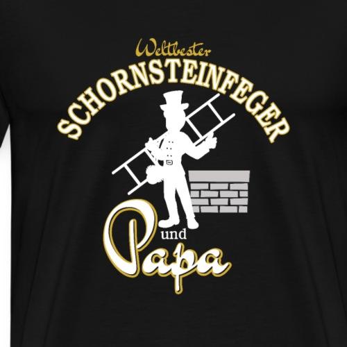 Weltbester Schornsteinfeger und Papa Geschenkidee - Männer Premium T-Shirt