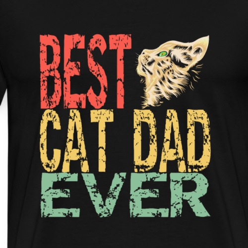 Best cat dad ever | Bester Katzen Papi überhaupt - Männer Premium T-Shirt