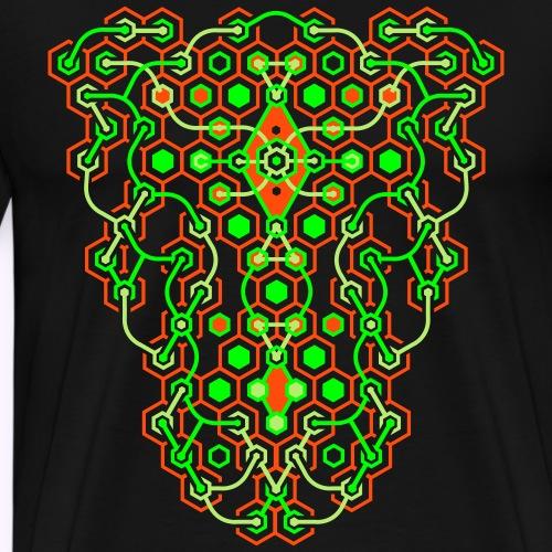 Impresión delantera del laberinto de Cybertron - Camiseta premium hombre