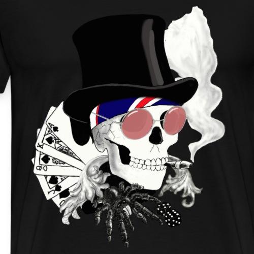 poker-skull - Männer Premium T-Shirt