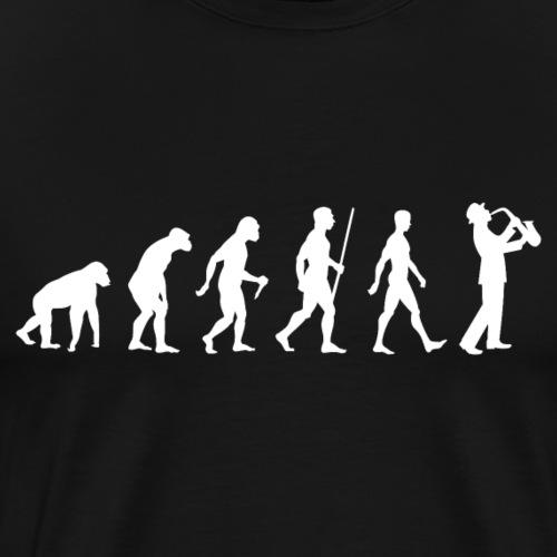 Saxophon Evolution - Männer Premium T-Shirt