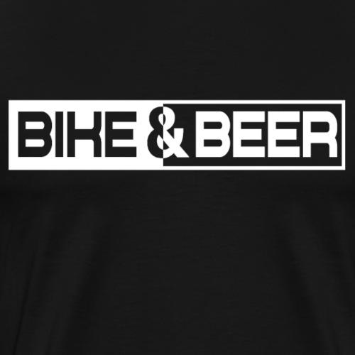Fahrrad Bike & Beer Bier - Männer Premium T-Shirt