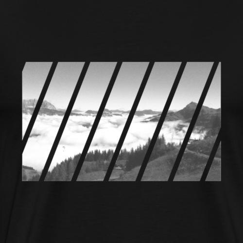 Berge Alpen Sommer Landschaft Urlaub Geschenk - Männer Premium T-Shirt