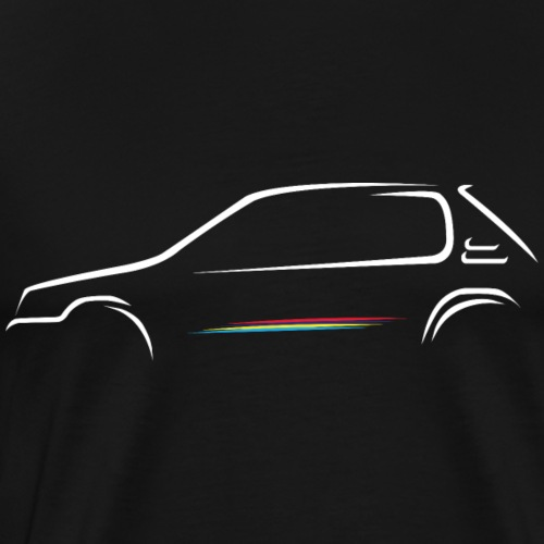 Esquisse 205 rallye - T-shirt Premium Homme