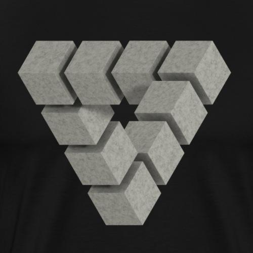 Penrose concrete blocks - Men's Premium T-Shirt