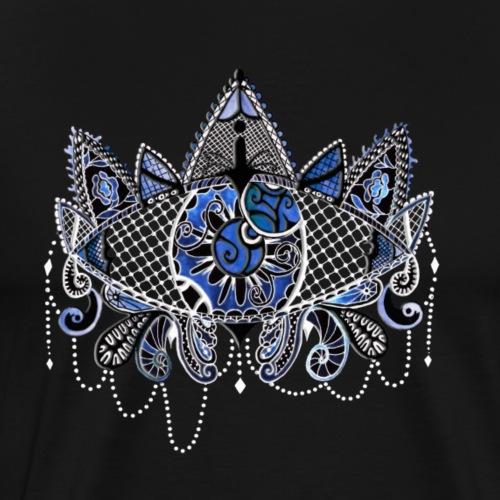 Oeil dentelle Bleu Version Noir - T-shirt Premium Homme