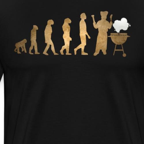 Evolution Of Grilling Funny Barbecue - Männer Premium T-Shirt