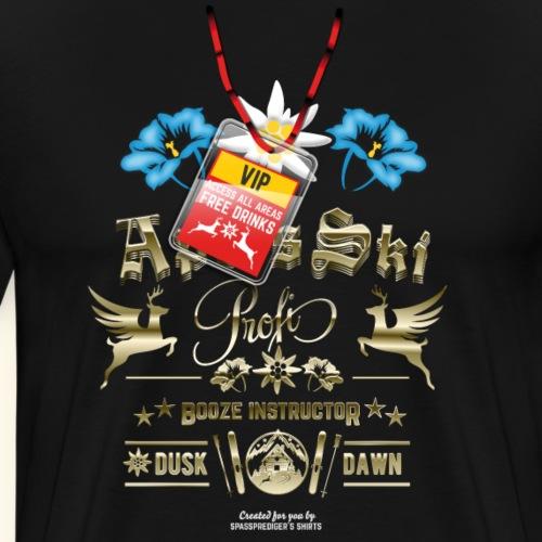 Apres Ski T Shirt Apres Ski Profi Booze Instructor - Männer Premium T-Shirt