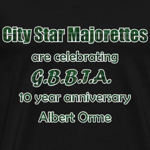 GBBTA 10YR White Border - Men's Premium T-Shirt