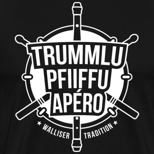 TRUMMLU PFIIFFU APÉRO - Männer Premium T-Shirt