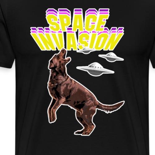 SPACE INVASION DOG - Männer Premium T-Shirt