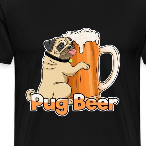 Pug Beer - Männer Premium T-Shirt