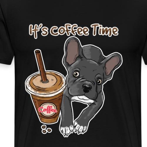 It's Coffee Time French Bulldog - Männer Premium T-Shirt