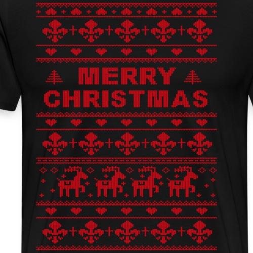 Ugly Sweater Merry Christmas - Männer Premium T-Shirt
