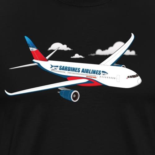 Avion Sardines Airlines - T-shirt Premium Homme