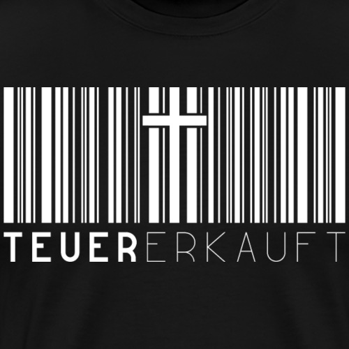 Teuer Erkauft Barcode Jesus Kreuz - Christlich - Männer Premium T-Shirt