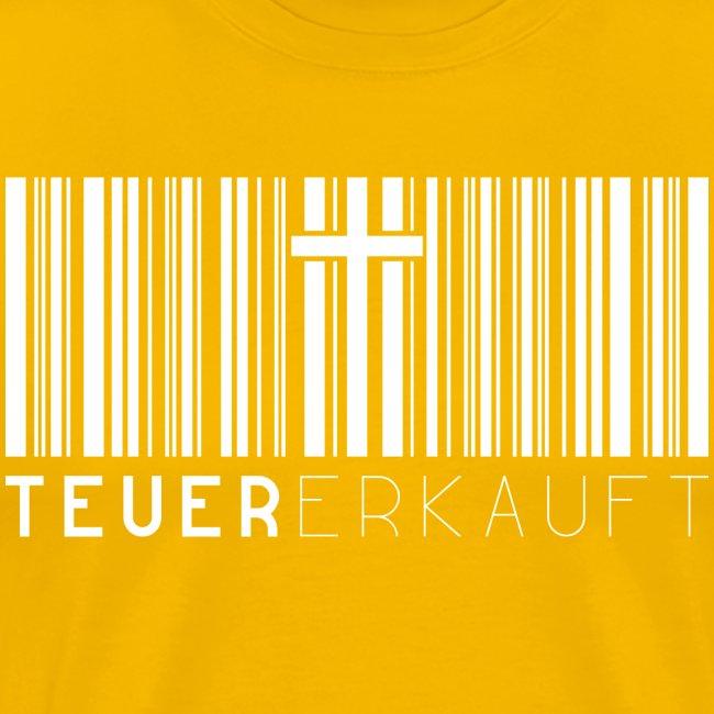 Teuer Erkauft Barcode Jesus Kreuz - Christlich