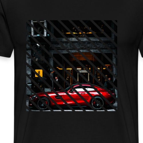 Red sport car - Premium T-skjorte for menn