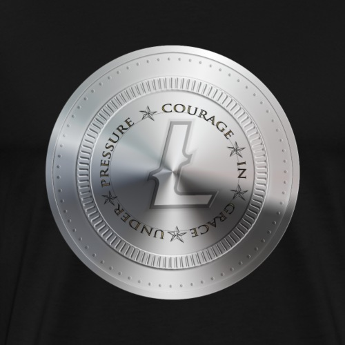 LITECOIN COURAGE IN GRACE UNDER PRESSURE - T-shirt Premium Homme