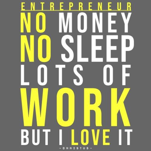 No Money No Sleep - Miesten premium t-paita
