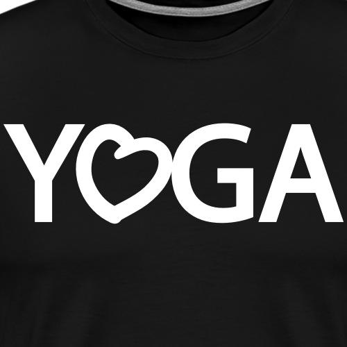 YOGA mit Herz - Männer Premium T-Shirt