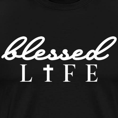 Blessed Life - Jesus Christlich - Männer Premium T-Shirt