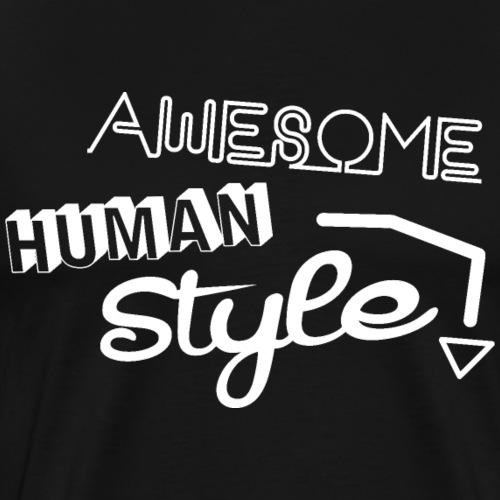 Awesome Human Style 3 - Männer Premium T-Shirt