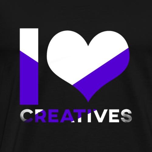 I Love Creatives - Logo By MrRobin12 - Premium-T-shirt herr