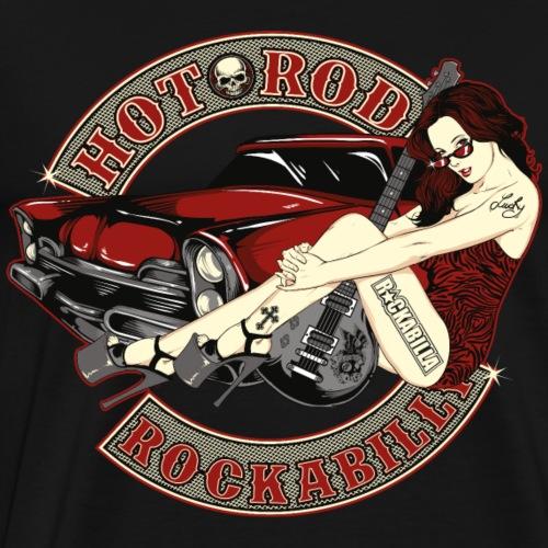 Hot Rod Babe - Männer Premium T-Shirt