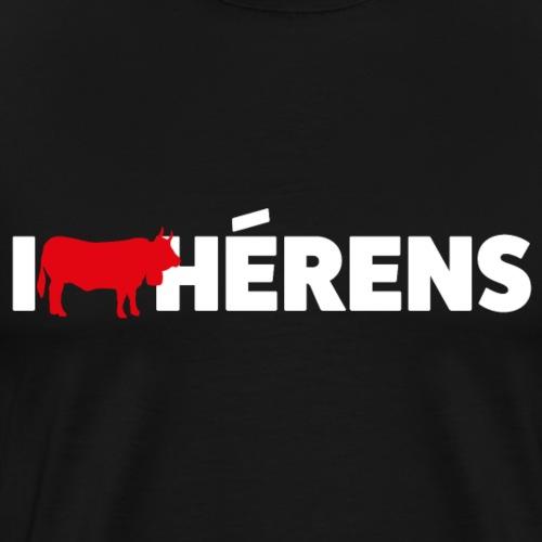 I LOVE HÉRENS - Männer Premium T-Shirt