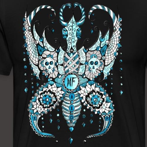 Papillon Lilou Turquoise - T-shirt Premium Homme