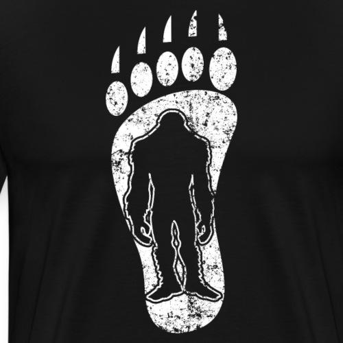 Bigfoot Track Footprint Sasquatch - Männer Premium T-Shirt