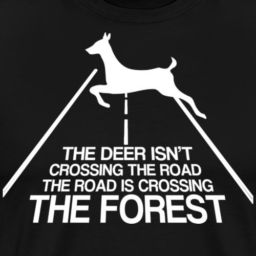 Deer forest white - Men's Premium T-Shirt