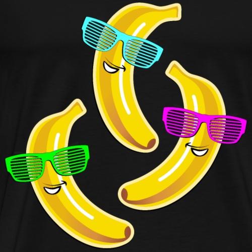 coole Bananen Sonnenbrille heißer Sommer hot Party - Men's Premium T-Shirt
