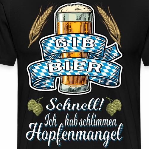 Gib Bier - Männer Premium T-Shirt