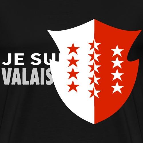 Drapeau blason Valais - Männer Premium T-Shirt