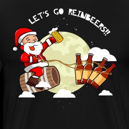 Lustig Weihnachten Craft Bier Santa Claus - Männer Premium T-Shirt