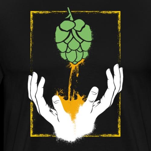 Craft Bier Hopfen Hobbybrauer Braumeister Religion - Männer Premium T-Shirt