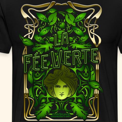 Absinth T Shirt Design La Fée Verte Art Nouveau - Männer Premium T-Shirt