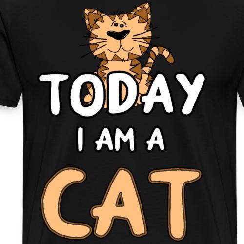 Katze Cat Miau Kätzchen Katzenmama Shirt Geschenk - Männer Premium T-Shirt