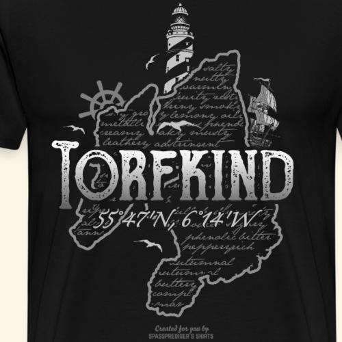 Whisky T Shirt Torfkind Leuchtturm Islay - Männer Premium T-Shirt