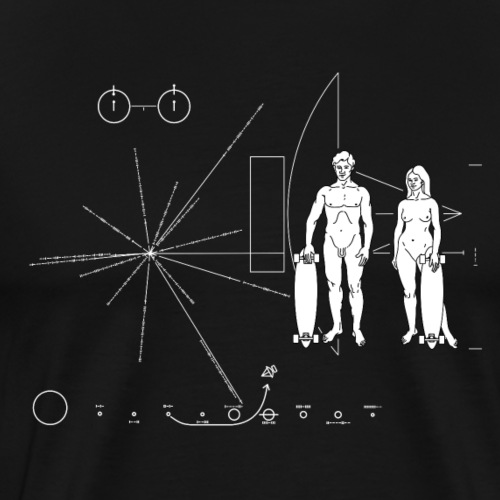 Skateboarder Pioneer plaque - T-shirt Premium Homme