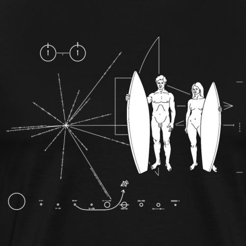 Surfboarder Pioneer plaque - T-shirt Premium Homme