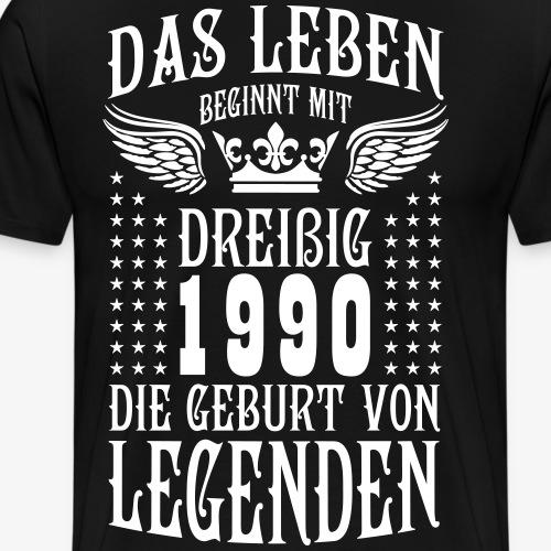 Das Leben beginnt mit 30 Geburt von Legenden 1990 - Männer Premium T-Shirt