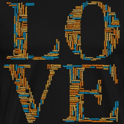 Love Word Cloud - Men's Premium T-Shirt