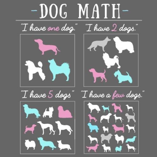 Dog Math - Miesten premium t-paita