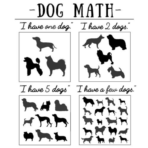 Dog Math III - Miesten premium t-paita