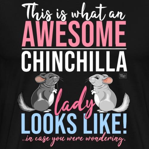 Chinchilla Lady III - Miesten premium t-paita